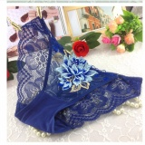 Quần lót nữ thêu hoa nổi ren mềm mại quyến rũ MDH-QR1105 ( xanh đen)