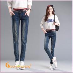 Mua Quần Nữ Quần Jean Nữ Lưng Thun Co Gian Glq029 Mau Xanh Đen Rẻ Hồ Chí Minh