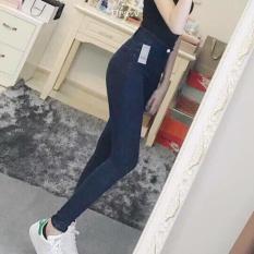 Mua Quần Nữ Quần Jeans Skiny Nữ Lưng Cao Ton Dang Mau Đen Mới