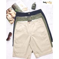 Combo 1 Quần Short Kaki Nam 3 Quần Lot Cotton Thương Hiệu Hugadore Usa Mau Navy Hugadore Chiết Khấu 30