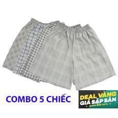 Quan sot nam gia si - quần short nam Caro26 (Combo 5 chiếc quần )- mặc ngủ, mặc ở nhà, chất cực mát - Hàng Việt Nam Xuất Khẩu.