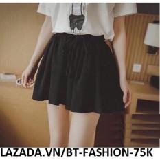 Quần Sọt Voan (Short) Giả Váy Thời Trang Hàn Quốc - BT Fahsion SO006F (Đen)