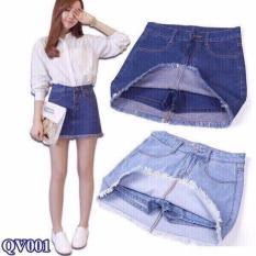 Quần váy jean cao cấp (xanh đậm) q001 phong cách trẻ trung ShynFashion