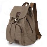 Giá Bán Retro Women Outdoor Fashion Rucksack Canvas Backpack Coffee Intl Unbranded Nguyên