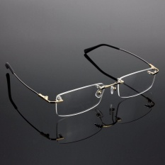 Rimless Glasses Lightest Rx Optical Eyeglasses Memory Titanium Spectacles Frame - intl