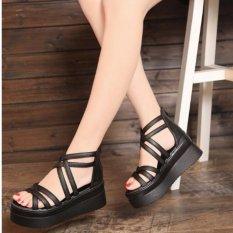 S011D - Giày Sandal đế xuồng nữ phong cách Hàn Quốc