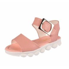 Hình ảnh sandal cho bé gái đi học chống trượt đế mềm phiên bản hàn quốc (hồng phấn)