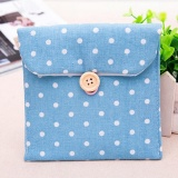 Sanitary Napkins Pads Carrying Bag Small Articles Gather Pouch Blue - intl