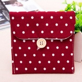 Sanitary Napkins Pads Carrying Bag Small Articles Gather Pouch Burgundy - intl