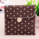 Sanitary Napkins Pads Carrying Bag Small Articles Gather Pouch Coffee - intl