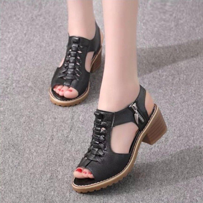 SD02D - Giày sandal nữ cá tính , Phong Cách Hàn Quốc. giá rẻ