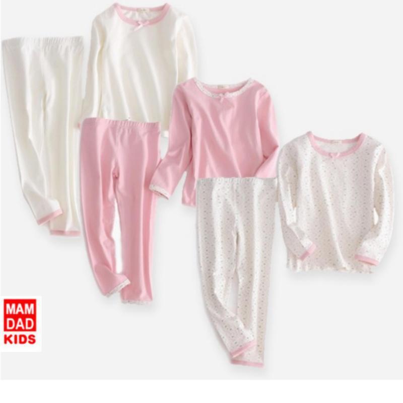 Nơi bán Set bộ quần áo cao cấp xuât Nhật cho bé ( màu trắng chấm)