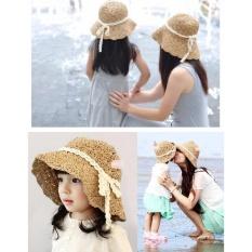 Giá bán Set mũ cặp mẹ và bé gái DDL8(Kem)