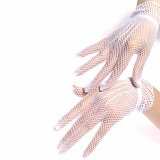 Sexy Women's Girls' Bridal Gloves Wedding Party Prom Driving Lace Gloves White 18cm - intl