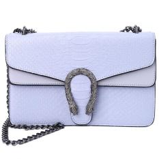 Giá Bán Shoulder Bag Women Fashion Snake Hasp Chain Messenger Cross Body Handbag Satchel Grey Intl Nhãn Hiệu Not Specified