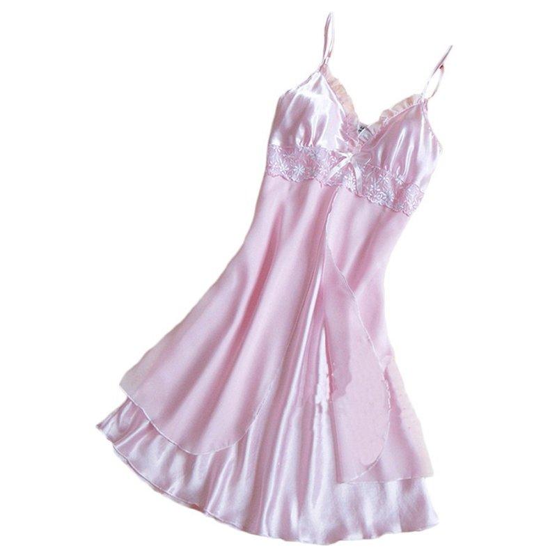 Nơi bán Chân váy Xòe caro Đồ Ngủ Áo Choàng (Hồng)-quốc tế