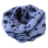 Stars Children's Cotton Neckerchief Kids Boy Girl Unisex Scarves Shawl Winter Knitting kerchief Blue - intl