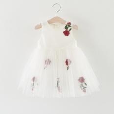 Giá bán Mùa hè Cho Bé Gái 2017 Mới Công Chúa Sofia Váy Đầm Bé Gái Dự Tiệc cho Bé Gái Quần Áo tutu Quần Áo Trẻ Em (trắng) -quốc tế