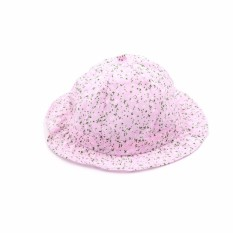 Giá bán Summer Born Baby Girls Kids Princess Infant Flower Sun Cap Cotton Bucket Hat Pink - intl