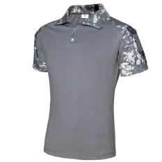 Summer Camouflage T Shirt Men Army Combat Military Uniform Tactical T-Shirt Quick Dry Camo Short Sleeve Tees - CAMO2 - intl