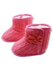 Giá bán Sunweb Tập Đi Boot Trẻ Sơ Sinh Mùa Đông Ủng Chống Trơn Trượt Cũi (Màu Đỏ)-intl