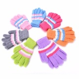 Top Kids Boys/Girls Rainbow Knit Warm Winter Gloves Full Finger Mittens - intl