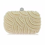 Bán Top Rate Women Lady Pearl Beaded Clutch Bag Party Bridal Handbag Wedding Evening Purse Intl Not Specified Người Bán Sỉ