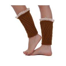 87b72d3443 Toprank Winter Leg Warmers For Women Fashion Gaiters Lace Boot Cuffs Socks  Women Warm Stockings 8