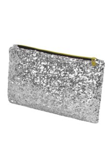 Web so sánh Toprank Women's Sparkle Spangle Clutch Bag Wallet Purse Handbag Evening Bag ( Silver
