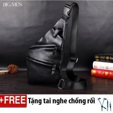 Bán Tui Da Đeo Cheo Chống Trộm Tặng Tai Nghe Chống Rối Ripper Leather Black Hà Nội Rẻ