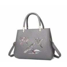 Bán Tui Xach Da Bo Cao Cấp Theu Chim Hạc Letin Tth68 Sp 2A5 Xam Letin Fashion Handbags Trong Hồ Chí Minh