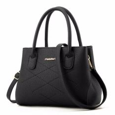 Mã Khuyến Mại Tui Xach Da Bo Kiểu Dang Trần Chỉ Letin Txww125 Sp 2A1 Đen Letin Fashion Handbags Mới Nhất