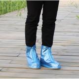 Ủng cao su cao cổ bọc giày dép đi mưa tiện ích (Màu xanh dương - Size M)