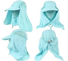 Unisex 360o Neck Cover Sun Fishing Hat Ear Flap Bucket Outdoor UV Protection Cap - intl Nhật Bản