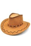 Unisex Hat Cowboy Knight Western Visor Khaki - intl