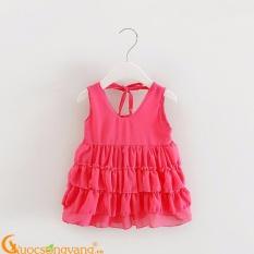 Giá bán Váy đầm bé gái váy đầm xếp tầng GLV041-Pink