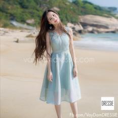 Bán Vay Đầm Cong Chua Xinh Xắn Xoe Đẹp Dressie Ku0733 Xanh Bạc Ha Vietnam Rẻ