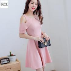 Ôn Tập Vay Đầm Hở Vai Ao Đầm Đẹp Thời Trang Dressie Dx0646A Hồng Hang Chinh Hang Hinh Thật