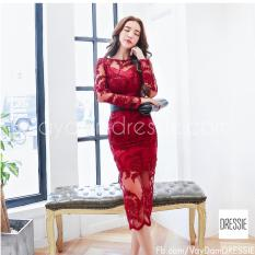 Vay Đầm Om Body Đẹp Cao Cấp Dự Tiệc Cưới Dressie Ku0924 Đỏ Vang Vietnam Chiết Khấu 50