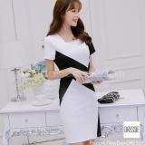 Giá Bán Vay Đầm Suong Đẹp Cao Cấp Thời Trang Thu Đong Dressie Ds0537 Trắng Đen Nguyên