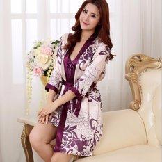 Hình ảnh Váy Ngủ Kèm Áo Choàng De500 (Tím)