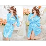 Váy ngủ nữ tay lửng kiêm áo choàng CDAN26  Kim Phát (xanh dương)