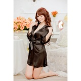 Váy ngủ nữ tay lửng kiêm áo choàng CDAN26  RainStore (đen)