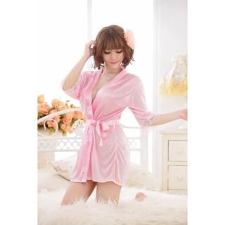 Váy ngủ nữ tay lửng kiêm áo choàng CDAN26 RainStore (hồng) thumbnail