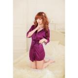 Váy ngủ nữ tay lửng kiêm áo choàng CDAN26  RainStore (tím)