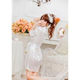 Váy ngủ nữ tay lửng kiêm áo choàng Chodeal24h (hồng) thumbnail