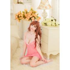 Váy ngủ sexy chấm bi CDAN36 Làm Đẹp - Hồng