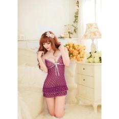 Váy ngủ sexy chấm bi CDAN36 Làm Đẹp - Tím