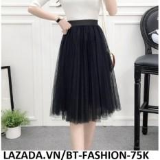Váy Xòe Phối Lưới Duyên Dáng- Thời Trang Hàn Quốc Mới - BT Fashion