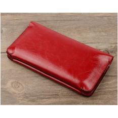 Giá Bán Vi Nữ Royal Cầm Tay Sieu Mỏng Để Tiền Thẻ Va Điện Thoại Suit Wallet Red Royal